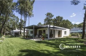 Maison contemporaine plain pied Jardin avec paysagé sur un golf La Palmyre 17