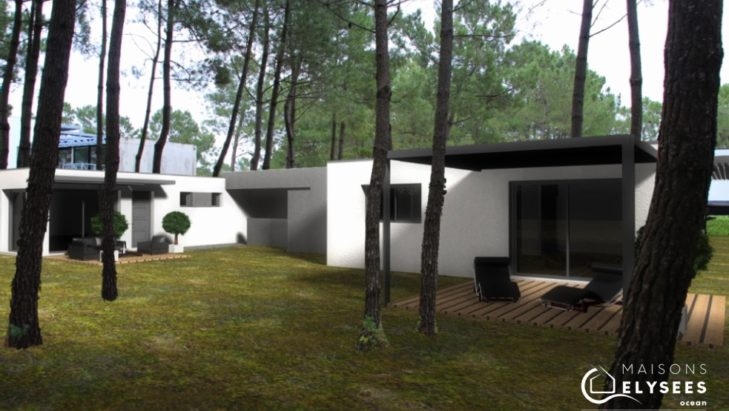 Perspectives maison contemporaine sur un golf Charente Maritime 17