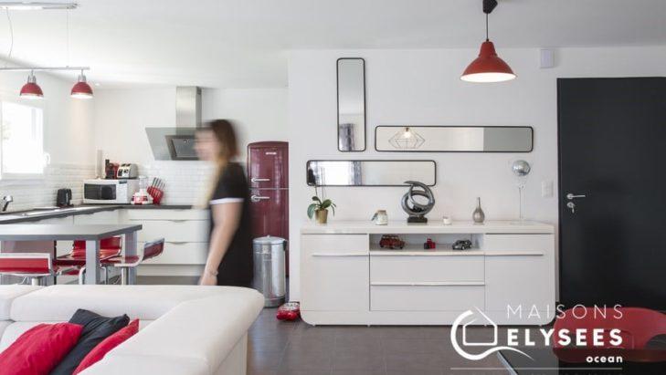 Séjour cuisine Maison contemporaine en Charentes Maritime 17