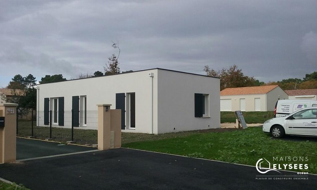 construction maison contemporaine sur Etaules 17