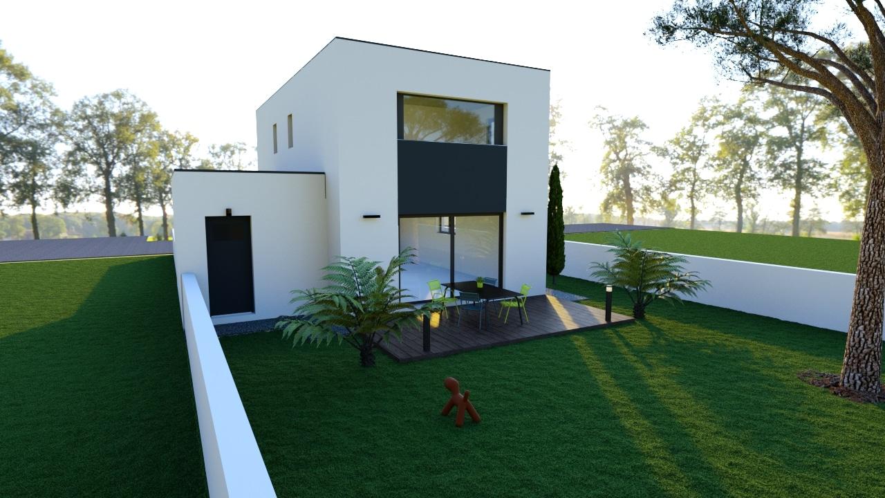 maison contemporaine à étage en Charente Maritime