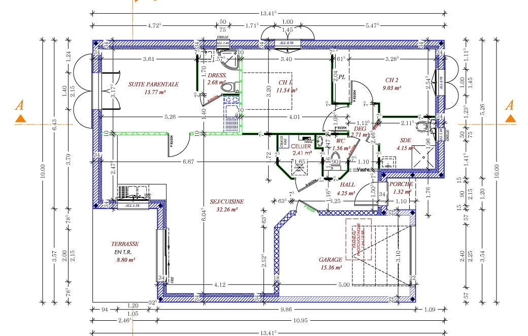 plan SOUBRIA PMR 84m²