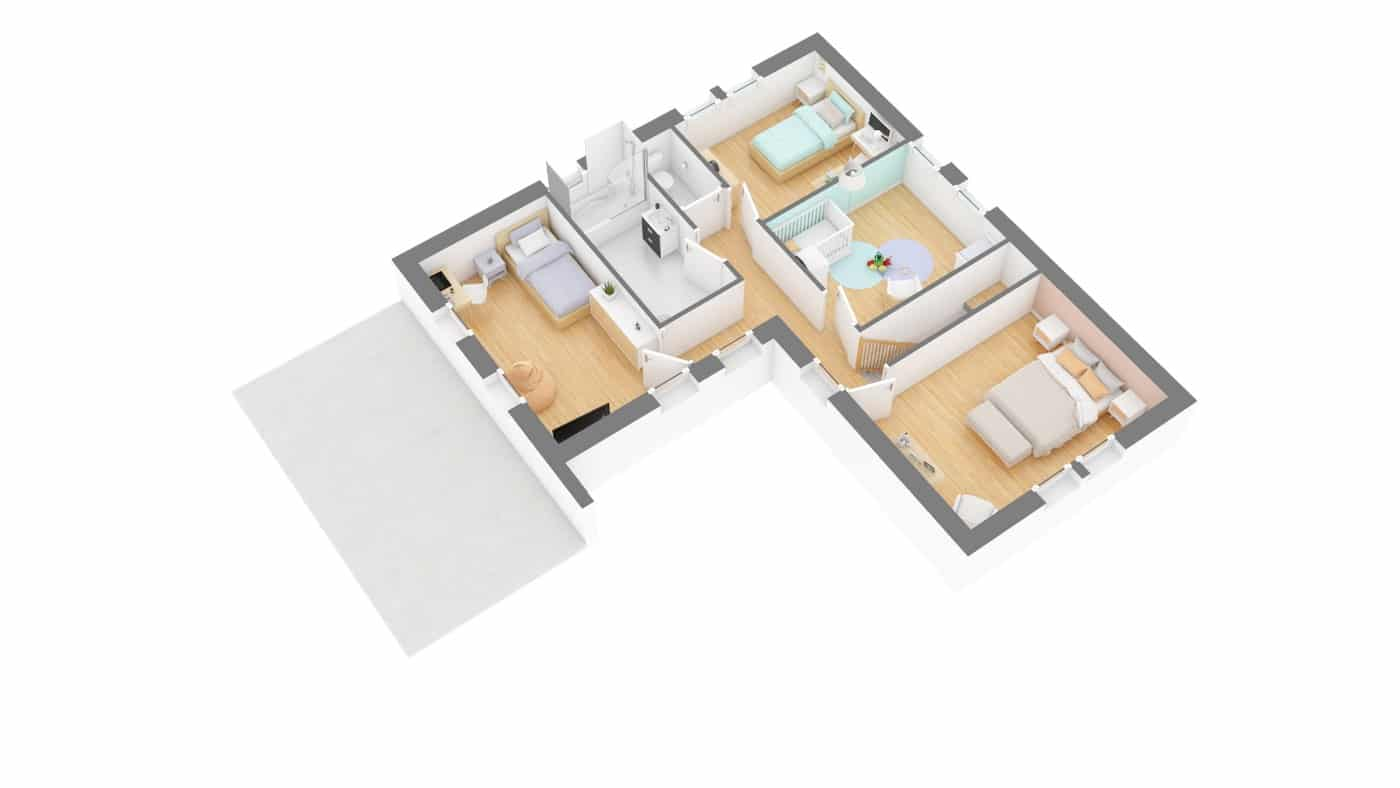 Elysees Ocean plan Maison moderne contemporaine _Senza-g1-axo_etage