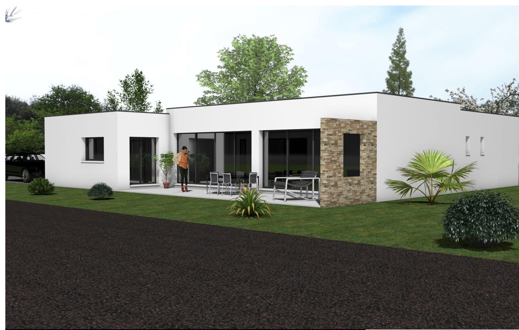 Maison contemporaine à Étaules