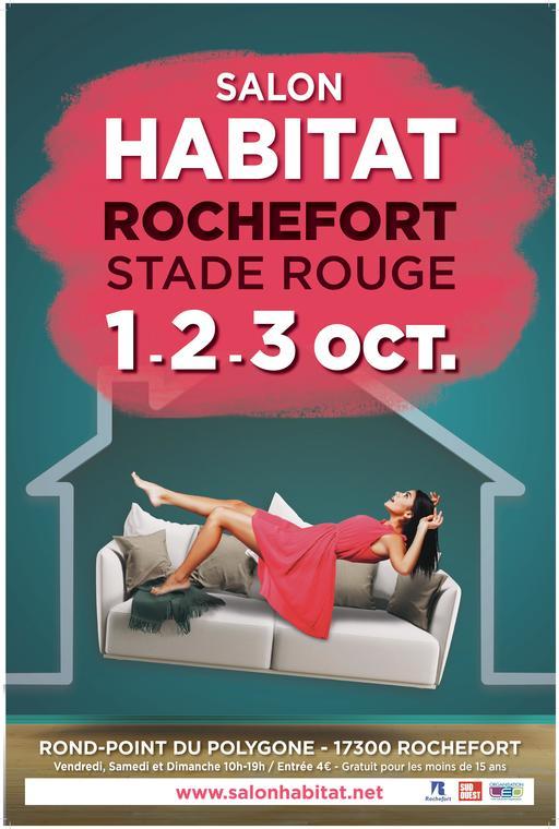 Affiche salon habitat Rochefort